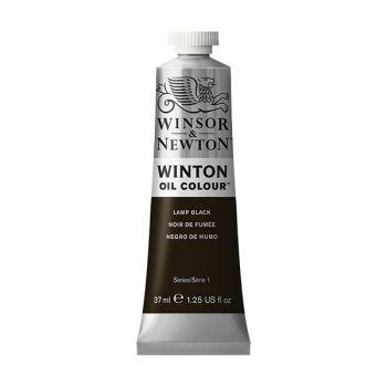 สีน้ำมัน Winsor & Newton Winton 37 มล. เบอร์ 337 Lamp Black