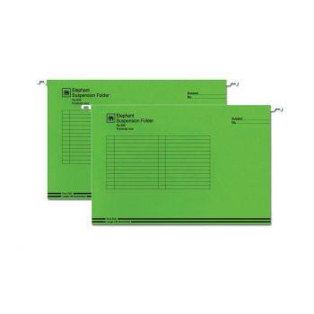 แฟ้มแขวน ตราช้าง รุ่น 925 สีเขียว