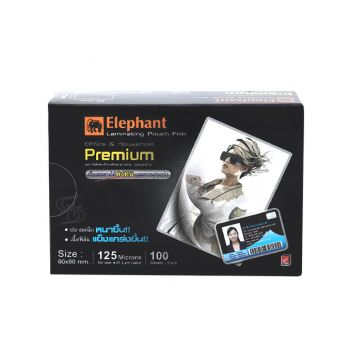 ฟิล์มเคลือบบัตร ตราช้าง Premium 60x90มม.125 ไมครอน