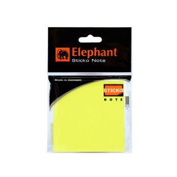 กระดาษโน๊ตแถบกาว ตราช้าง สีนีออน เหลือง 3x3