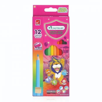 สีไม้ แท่งยาว Master Art 12 สี รุ่น Super Bright