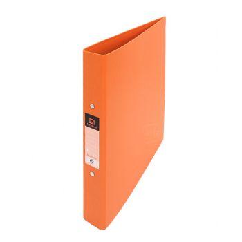 แฟ้ม 2 ห่วง ตราช้าง รุ่น 221A4 ขนาด A4 ปกดูราพลาส สีส้ม