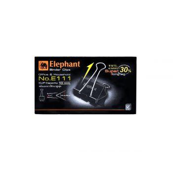 คลิปดำ ตราช้าง รุ่น E111 25มม. (12 ตัว/กล่อง)