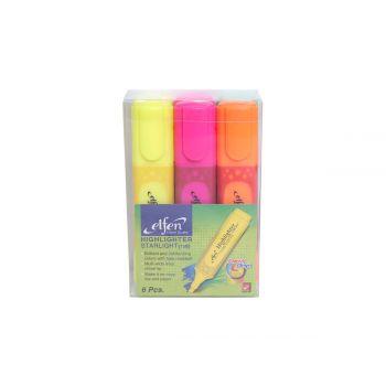 ปากกาเน้นข้อความสตาร์ไลท์ คละสี (6 แท่ง) Elfen