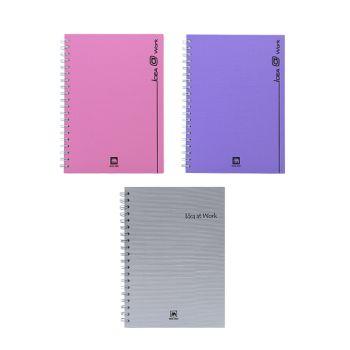 Set : สมุดปกแข็งริมลวด ทรูไรท์ WHC-202 (คละสี) จำนวน 3 เล่ม