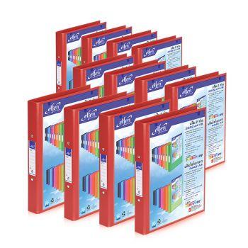 Set : แฟ้ม 2 ห่วง เบอร์ 2222 A4 VB สีแดง เอลเฟ่น จำนวน 12 เล่ม
