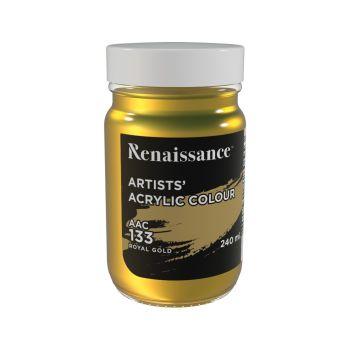 สีอะคริลิค Renaissance 240 มล. เบอร์ 133 Royal Gold