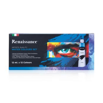 (Clearance) สีน้ำ ชุด 12 สี 12 มล. Renaissance (SD199340)