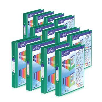 Set : แฟ้ม 2 ห่วง เบอร์ 2222 A4 VB สีเขียว เอลเฟ่น จำนวน 12 เล่ม
