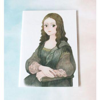 สมุดโน๊ตลายภาพศิลปะ ขนาด A5 ลายโมนาลิซ่า (เส้นตารางกริด)