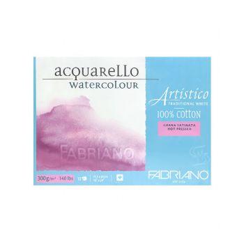 กระดาษวาดภาพ Fabriano Artistico 300แกรม ผิวเรียบ ขนาด45.5x61cm 10 แผ่น