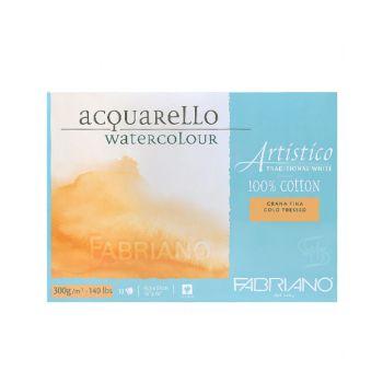 กระดาษวาดภาพ Fabriano Artistico 300แกรม ผิวกึ่งหยาบ ขนาด45.5x61cm 10 แผ่น