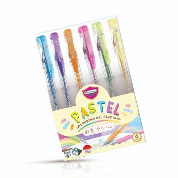ปากกาเจล Master Art สีพาสเทล 1.0 มม. 6 สี