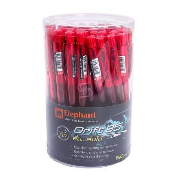 ปากกาลูกลื่น ตราช้าง Drift 95 แดง (ราคาต่อด้าม)