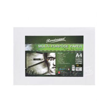 กระดาษวาดภาพชนิดเรียบ ขนาด A4 200แกรม 50 แผ่น Renaissance