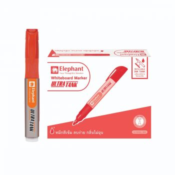 ปากกาไวท์บอร์ด Ultratank แดง (โหล) ตราช้าง