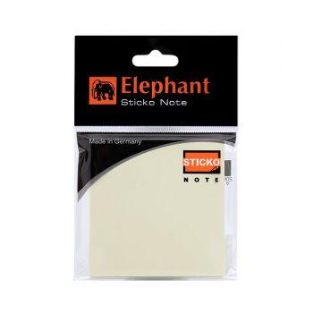 กระดาษโน๊ตแถบกาว ตราช้าง ขนาด 3x3 นิ้ว เหลือง (50 แผ่น)
