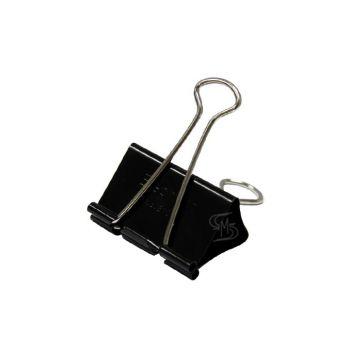 คลิปดำ ตราช้าง รุ่น E112 19มม. (12 ตัว/กล่อง)