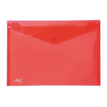 (1Free1) แฟ้มซองกระดุม 1 เม็ด เอลเฟ่น รุ่น 114 ขนาด A4 สีแดง (แพ็ค 12)