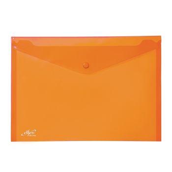 (1Free1) แฟ้มซองกระดุม 1 เม็ด เอลเฟ่น รุ่น 114 ขนาด A4 สีส้ม (แพ็ค 12)