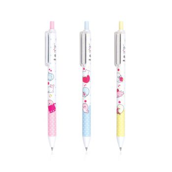 ปากกาเจล มาเมะโกมะ QG-101 0.5 หมึกน้ำเงิน (คละสี) Quantum