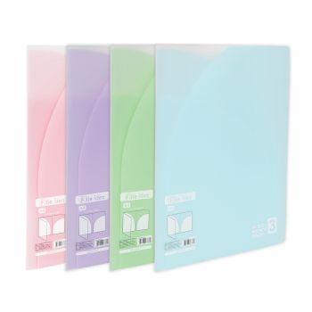 แฟ้มซองพลาสติก 3 ช่อง ตราช้าง File Idea F03 (คละสี)