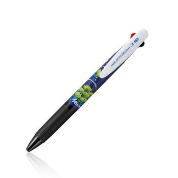 ปากกา ยูนิ เจ็ทสตรีม 3 หัว SXE3-504D-05 AL NAVY