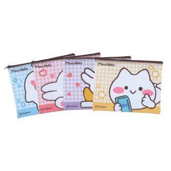 กระเป๋าซิปพลาสติกตราช้าง ลาย มิมิเนโกะ ขนาด A5 (คละลาย)