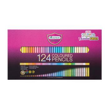 สีไม้ Master Art แท่งยาว 124 สี