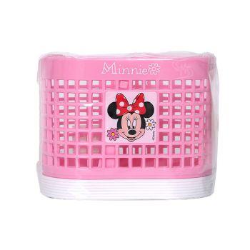 ตะกร้าแบ่งช่อง ลาย Minnie mouse - 008 (คละสี)