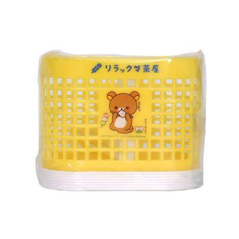 ตะกร้าแบ่งช่อง ลาย rilakkuma - 005 (คละสี)