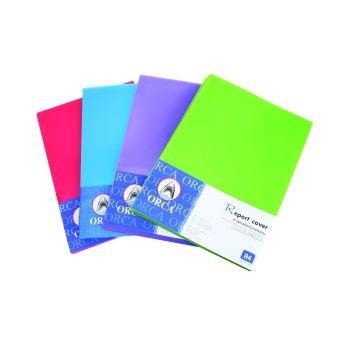 แผ่นพลาสติกทำปกรายงาน แบบสี ขนาด A4 (ห่อ/100 แผ่น) คละสี