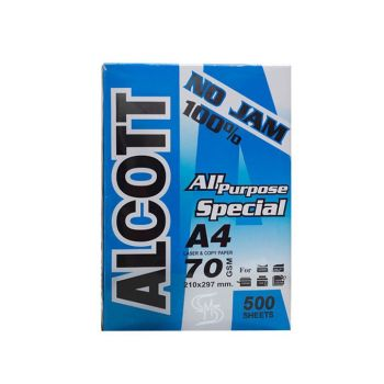 กระดาษถ่ายเอกสาร A4 70 แกรม Alcott