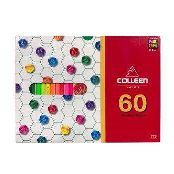 สีไม้ Colleen 60 สี 60 แท่ง กล่องกระดาษ