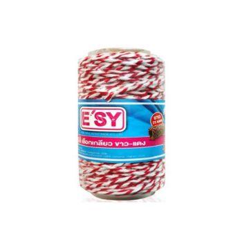 เชือกเกลียวขาวแดง Easy ยาว 25 เมตร