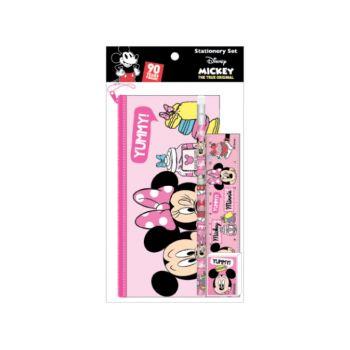 ชุดเซ็ทเครื่องเขียน Mickey Mouse - 039 (กระเป๋าดินสอ, ดินสอไม้x1, ยางลบดินสอ, ไม้บรรทัด)