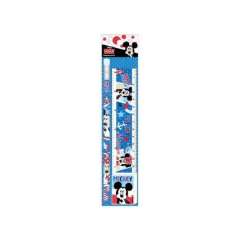 ชุดเซ็ทดินสอ Mickey Mouse - 074 สีน้ำเงิน (ดินสอไม้x1, ยางลบดินสอ, ไม้รรทัด)