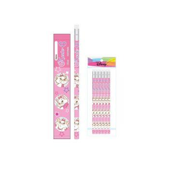 ดินสอไม้ Marie HB - 446 (6แท่ง)