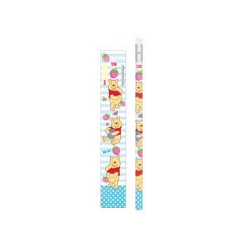 ดินสอ 2B หัวยางลบดินสอ Pooh - 457 สีฟ้า