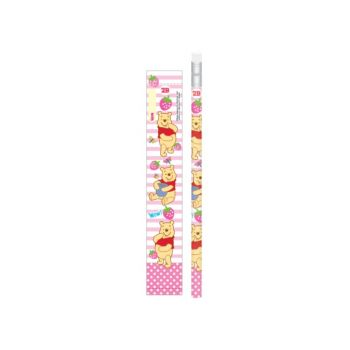 ดินสอ 2B หัวยางลบดินสอ Pooh - 457 สีชมพู