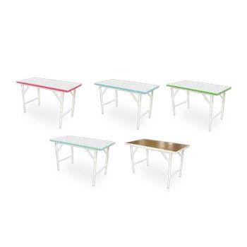 โต๊ะพับอเนกประสงค์หน้าขาวขอบเขียวน้ำทะเล โตไก Tiger-2436