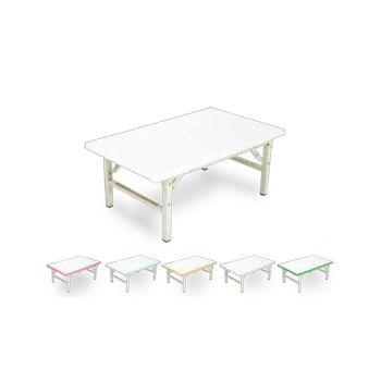 โต๊ะพับญี่ปุ่นลามิเนตขาวขอบขาว โตไก Tiger-1824