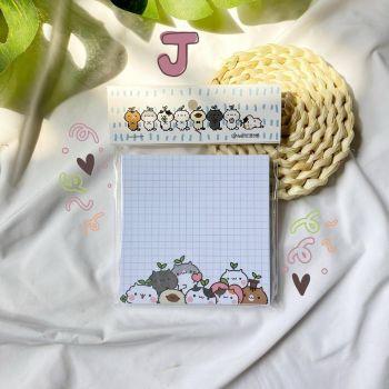 กระดาษโน้ต 9x9 ซม. 50 แผ่น (J)
