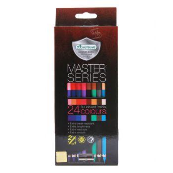 (LD201029) สีไม้ไม้ 2 หัว 24 สี มาสเตอร์ซีรี่ Master Art