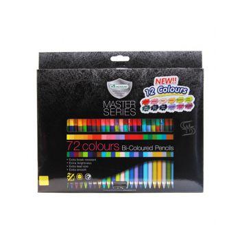 (LD242633) สีไม้ 2หัว 72สี รุ่นมาสเตอร์ซีรี่ย์ Master Art
