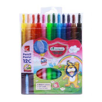 สีไม้ Master Art พาสเทล 12 สี