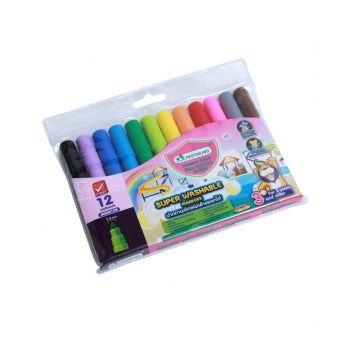 ปากกาเมจิกล้างออกได้ Master Art 12 สี