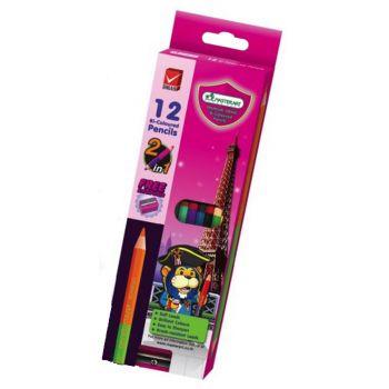 (LD096854) สีไม้ 2 หัว 12 สี มาสเตอร์อาร์ต แพ็ค 3 กล่อง