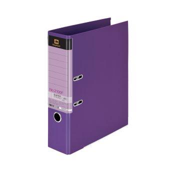 (LD107024) แฟ้มคลิปก้านยกตราช้างรุ่น 2100F สีม่วง แพ็ค 3 เล่ม