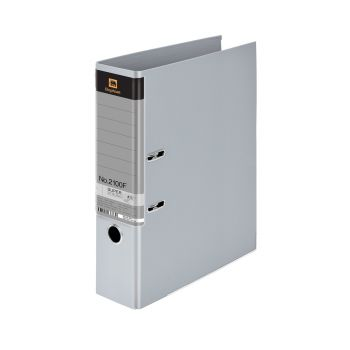 (LD107048) แฟ้มคลิปก้านยกตราช้างรุ่น 2100F สีเทา แพ็ค 3 เล่ม